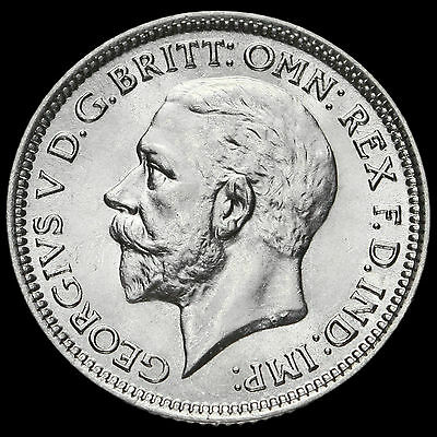 1928 George V Silver Sixpence, A/UNC
