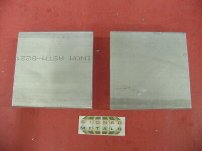 "2 Pieces 1"" X 5"" ALUMINUM 6061 T6511 SOLID FLAT BAR 5"" long Plate New Mill Stock"