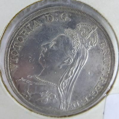 1889 Great Britain 1 Crown World Silver Coin - UK - England - Victoria