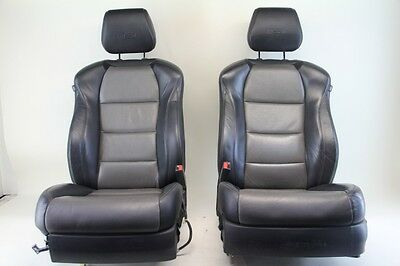 Acura TL Type-S Front Left & Right Seat Assembly Set, Black/Grey Leather