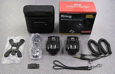 2 Pixel King Wireless E-TTL Flash Trigger 2.4GHz 1/8000S for Canon