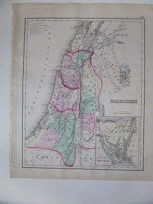 Large 1874 Map of Palestine