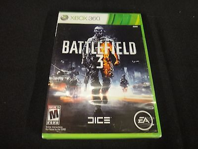 Battlefield 3 (Microsoft Xbox 360, 2011) Brand New Factory Sealed