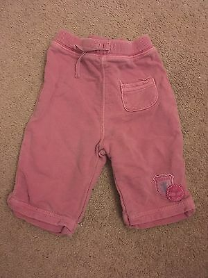 Baby Girls Mauve Trousers, 0-3 Months