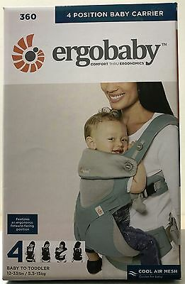 Ergobaby Four Position 360 Cool Air Infant Child Baby Carrier Ergo Icy Mint NEW