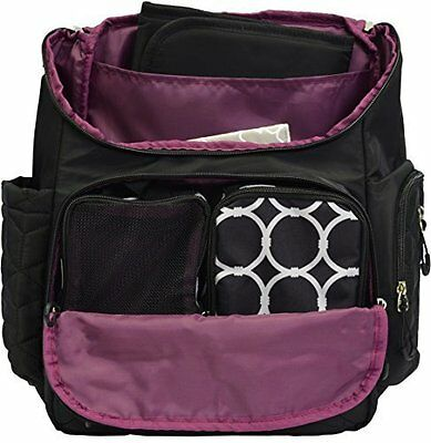 NEW Terra Baby Diaper Bag Backpack with Stroller Straps - Black - Size: One