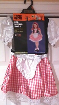 Red Riding Hood Costume Size 2T-4T Halloween Dress Up Infant Toddler 2-4 Years