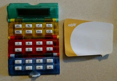 EBAY Stores*Roll-up CALCULATOR +POST-ITS*Old Logo*NEVER USED COLLECTIBLE*EBAYANA
