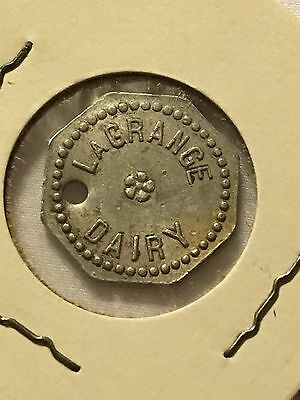 La Grange Dairy Good For 1 Pint  Milk Token Coin Illinois
