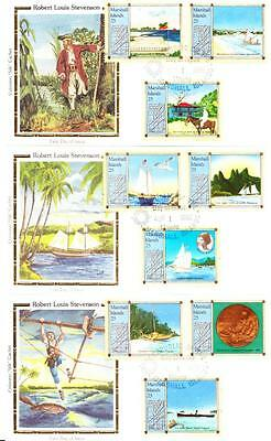 MARSHALL ISLANDS ROBERT LOUIS STEVENSON Stamps Colorano First Day Covers 3617z