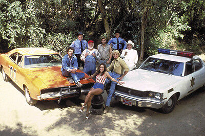 Dukes Of Hazzard Color Whole Cast & Cars 11X17 Poster