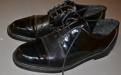 "After Six ""Volt"" Used Mens tuxedo shoes  11.5 SIZE  FORMAL BLACK DIPLOMAT"