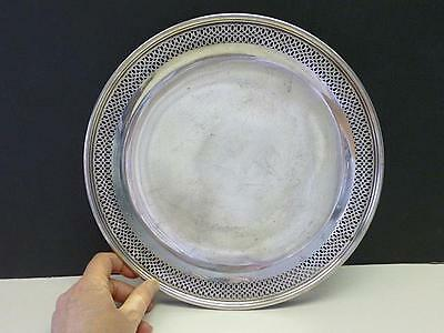 """Art Deco Tiffany & Co Sterling Silver Pierced Cake Footed Tray Plate Dish 10.5"""""""