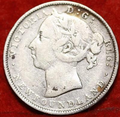 1888 Newfoundland 20 Cents Silver Foreign Coin Free S/H