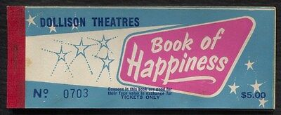 Dollison Theatres Book of Happiness $5 coupon booklet