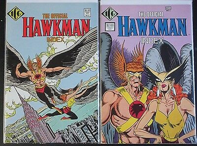 OFFICIAL HAWKMAN INDEX #1,2 Full Set! (NM-) DC 1986 Hawkgirl