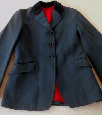Saddle Master Navy Riding / Dressage / Equestrian Fitted Blazer / Jacket Size 6