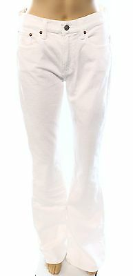 Polo Ralph Lauren NEW White Women's Size 28X35 Flare 5-Pocket Jeans $165 #334