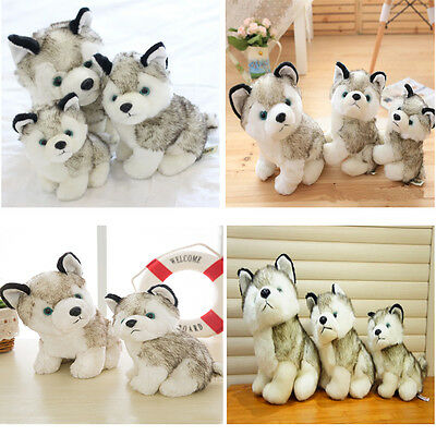 "7""/9.5""/12"" Cute Plush Husky Doll Soft Toy Stuffed Animal Cute Dog Kids Toy Gift"