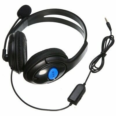 Wired Gaming Headset Stereo Headphone with Microphone Mic For Sony PS4 PC Laptop