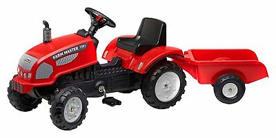 NEW Falk Farm Master 720i Pedal Tractor And Trailer, With Opening Bonnet