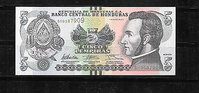Honduras 2012 5 Lempira New Uncirculated  Banknote Note Currency Paper Money