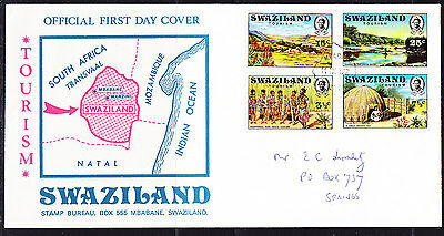 Swaziland 1972 Tourism  First Day Cover.- Addressed