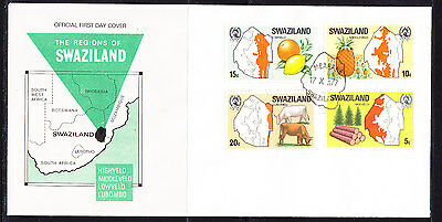 Swaziland 1977 Regions First Day Cover.- Unaddressed