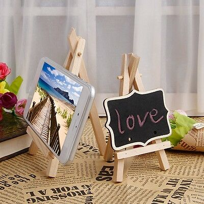 10Pcs Mini Wooden Easel Display Painting Stand Card Canvas Holder Wedding Party