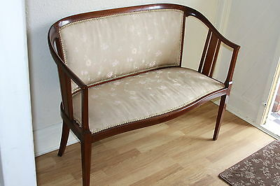Antique EDWARDIAN INLAID MAHOGANY Classical Salon 2 Seater DRAWING ROOM/ SETTEE