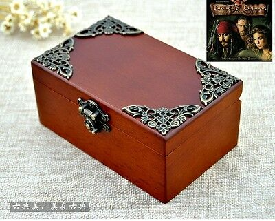Sankyo ♫ Pirates of the Caribbean Davy Jones ♫  Vintage Wooden jewelry Music Box