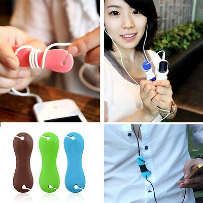 2Pcs Rubber Dog Bone Earphone Cord Cable Organizer Winder Wrap for Headphone
