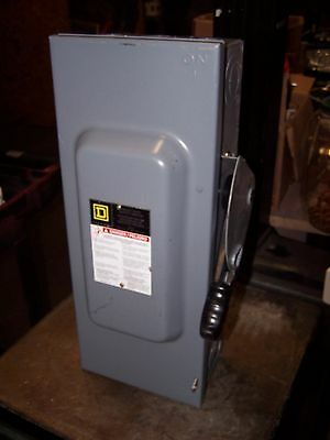 New Square D 100 Amp Non-Fusible Safety Switch Nema 1 Indoor 600 Vac Hu363
