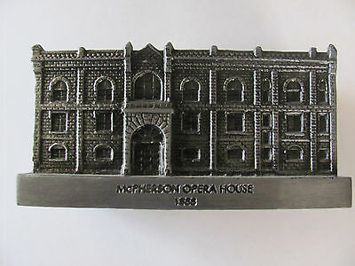 Coca Cola McPherson Opera House 1888 Metal Bank Serial Numbered 663/1000