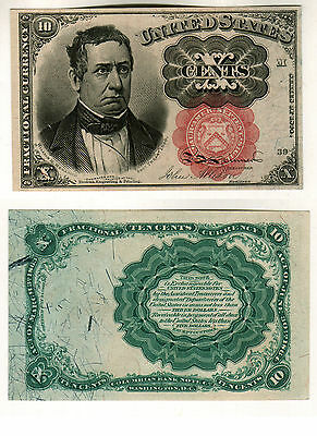 C U 1874 5th ISSUE PORTRAIT OF MEREDITH 10 CENT FRACTIONAL