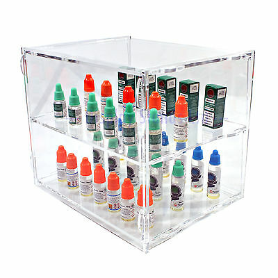 Acrylic Counter Display Cabinet 2 Tier Flat Packed (DS30/2C)