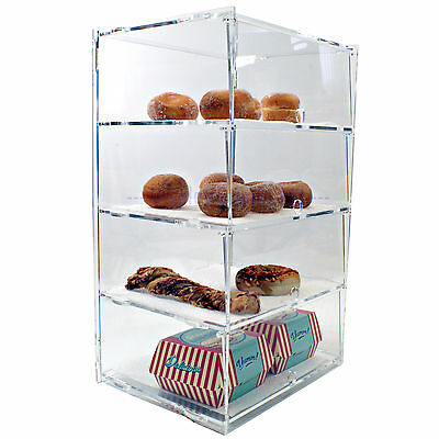 Acrylic Counter Display Cabinet 4 Tier Flat Packed (DS30/4C)