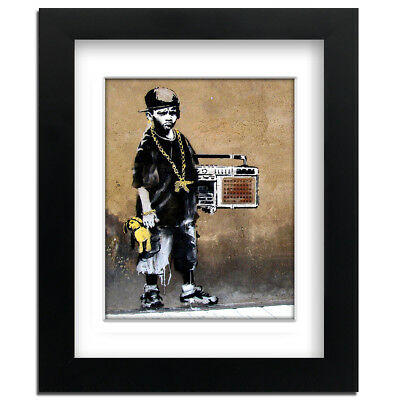 professionally Framed art print with mount Street Art Banksy Love Sick
