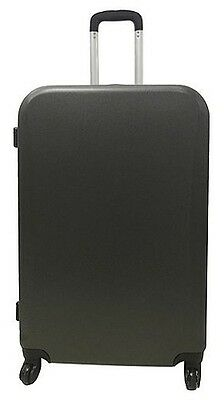 NEW Tesco Berlin 4 Wheel Large Hard Shell Suitcase - Dark Grey