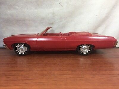 Vintage GM Red 1970 Chevrolet Convertible Advertising Promo Car 70 Chevy