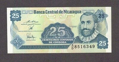 1991 25 Centavos Nicaragua Currency Gem Unc Banknote Note Money Bank Bill Cash