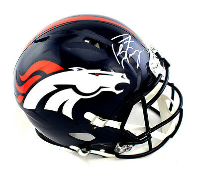 Peyton Manning Signed Denver Broncos Riddell Authentic Revolution NFL Helmet