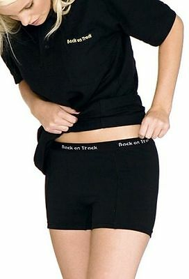 BACK ON TRACK Women's Boxer Shorts Black Washable SoothingWarmth Groin Hip Small