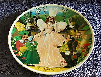 "Knowles 1979 Wizard Of Oz ""Follow The Yellow Brick Road"" Plate #01639D NIB COA"