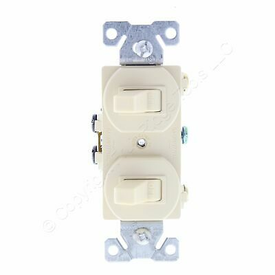 Cooper Ivory Single Pole DOUBLE Toggle Duplex Wall Light Switch 15A 120/277 271V