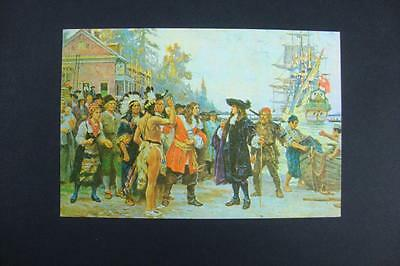 437) Newcastle Delaware Landing Of William Penn In 1682 Painting By J L G Ferris