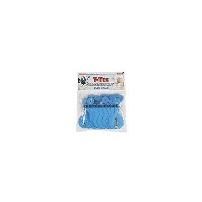 Y-Tex EZ 1-Piece Medium Cattle Ear Tags Blue Numbered 26-50