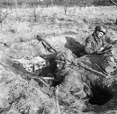 WW2 Photo WWII British Paratroops in Holland February 1945 / 1240