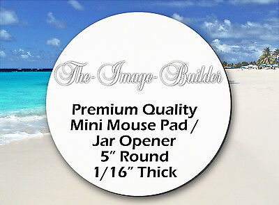 "5 Blank Mini Mouse Pads 5"" Round 1/16"" Mousepads Sublimation/HeatTransfer JAR5"