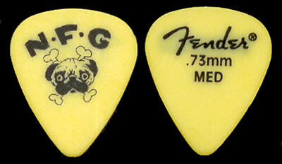 "NEW FOUND GLORY --- Yellow ""Pug"" guitar pick"